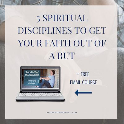 "Which got your attention? Spiritual disciplines, or ""get your faith out of a rut?"" Maybe you feel like you're not growing, you're just going through the motions. Maybe you seem to be struggling with the same sin issues over and over again. Trying harder just isn't fixing it. Or maybe you've lost that woo-woo Jesus feeling. - https://www.realworldbiblestudy.com"