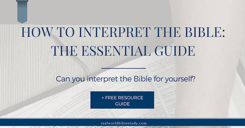 Can you interpret the Bible for yourself? Sort of. Learn how with this essential guide to interpreting the Bible! - https://www.realworldbiblestudy.com