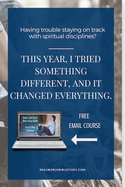 I always had a hard time staying on track with spiritual disciplines. You, too? Oh good, it's not just me! But this year, I tried something different, and it changed everything.