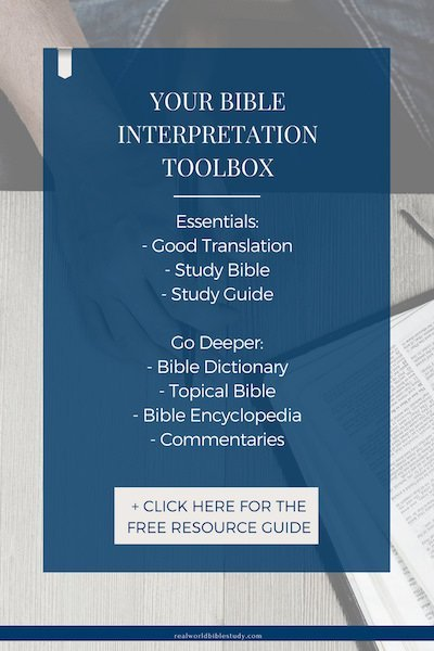 Here is your Interpretation Toolbox , the basic tools you need to interpret the Bible (And some more if you want to go deeper). Click here for access to the free resource guide! - https://www.realworldbiblestudy.com