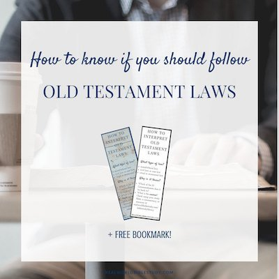 Jesus said the law would never pass away, but he also turned the tables on some Old Testament laws. Learn how to know if you should follow Old Testament Laws (and get a free bookmark!) - https://www.realworldbiblestudy.com