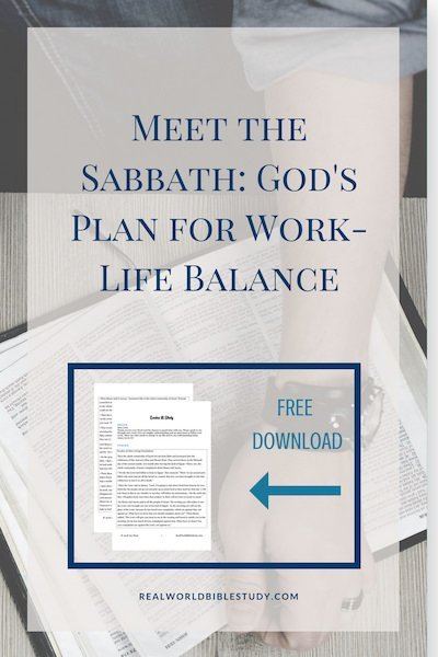 Meet the Sabbath: God's plan for work-life balance. Believe it or not, he knew you were going to be this stressed out. - https://www.realworldbiblestudy.com