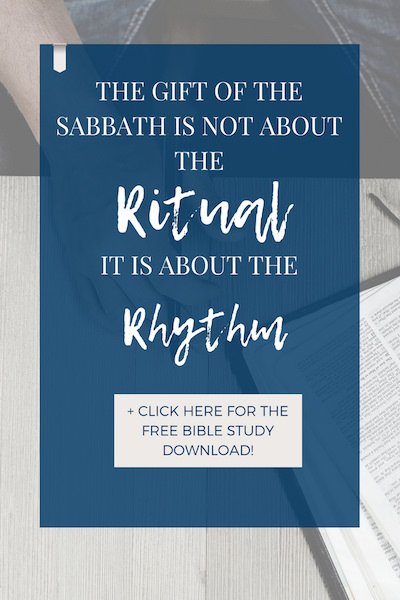 Sabbath is not about the ritual, it's about the rhythm of work + rest in proper balance. It's God's solution for work-life balance. - https://www.realworldbiblestudy.com