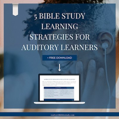Do you learn by hearing? I do! Here are 5 Bible study strategies for auditory learners. - https://www.realworldbiblestudy.com