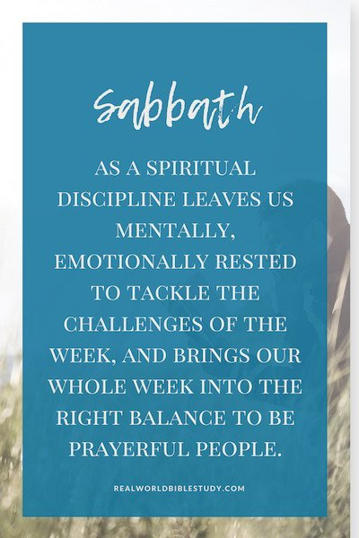 Sabbath as a spiritual discipline leaves us mentally, emotionally rested to tackle the challenges of the week. + FREE EBOOK - https://www.realworldbiblestudy.com
