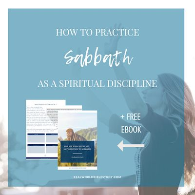 Sabbath as a spiritual discipline leaves us mentally, emotionally rested to tackle the challenges of the week, and brings our whole week into the right balance to be prayerful people. + Free ebook! - https://www.realworldbiblestudy.com