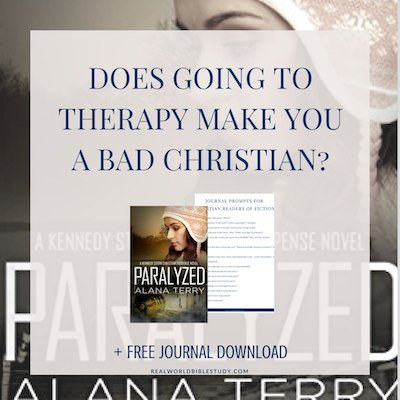 Does going to therapy make you a bad Christian? Does it mean you don't have enough faith, or you don't pray enough? Kennedy Stern struggles with these questions while on the run from a killer! (Review of Alana Terry's Paralyzed) - https://www.realworldbiblestudy.com
