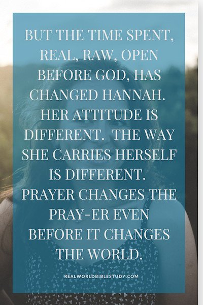 When you pour out your heart to God, things change. - https://www.realworldbiblestudy.com