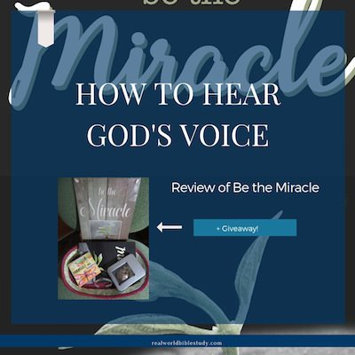 To be used by God to work his little - and big - miracles, we have to be trained to know his voice! Be the Miracle Review + Giveaway - https://www.realworldbiblestudy.com