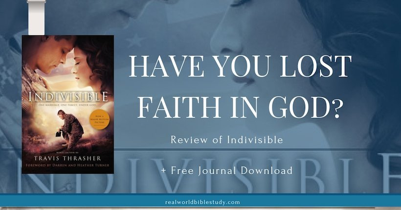 Have you lost faith in God? Maybe you didn't quit following him or believing, but you just lost...something. If you've been there like me, you might want to hear this story. (Review of Indivisible) - https://www.realworldbiblestudy.com