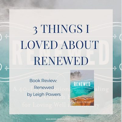 Renewed gave me the vocabulary to talk to God about the painful parts of doing ministry. Book #Review + #Giveaway - https://www.realworldbiblestudy.com