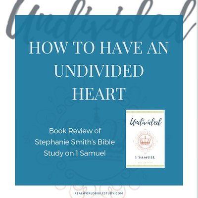 My review of Undivided, a #Biblestudy of 1 Samuel by Stephanie Smith. - https://www.realworldbiblestudy.com