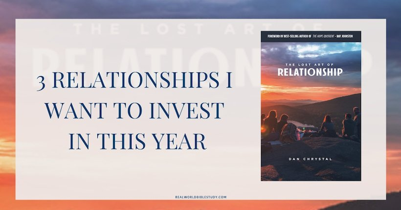 Relationships are hard work, and it's easy for me to neglect that part of my life. Here are 3 relationships I want to invest in this year, and my review of Dan Chrystal's The Lost Art of Relationship (and a #giveaway!) - https://www.thecafescholar.com