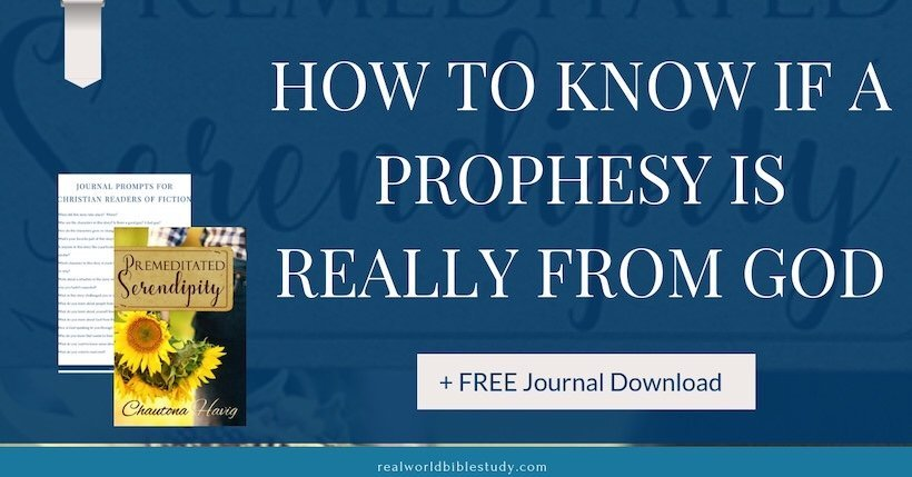 How do you know if a prophecy is really from God? Prophecy, flowers, and love come together in this sweet and funny story from Chautona Havig. Realworldbiblestudy.com