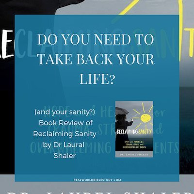 Do you need to take back your life (and your sanity)? If you feel like things are out of control, you need to read Reclaiming Sanity. Here's my book #review. - https://www.realworldbiblestudy.com