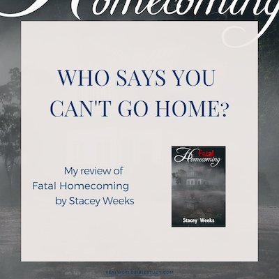 But what if you can't go home? That's what it was like for Jessie when her family left town after her father was accused of conning half the town's pensions. Everyone hated them. Even years later, her brother moved back into their old family home, and wound up dead. My review of Fatal Homecoming. https://www.realworldbiblestudy.com