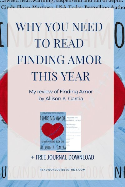 This book will make you laugh, cry, and maybe even think in another language. It will probably break your heart...and bring you healing along the way too. Read my review of Finding Amor at realworldbiblestudy.com, and enter the #giveaway!