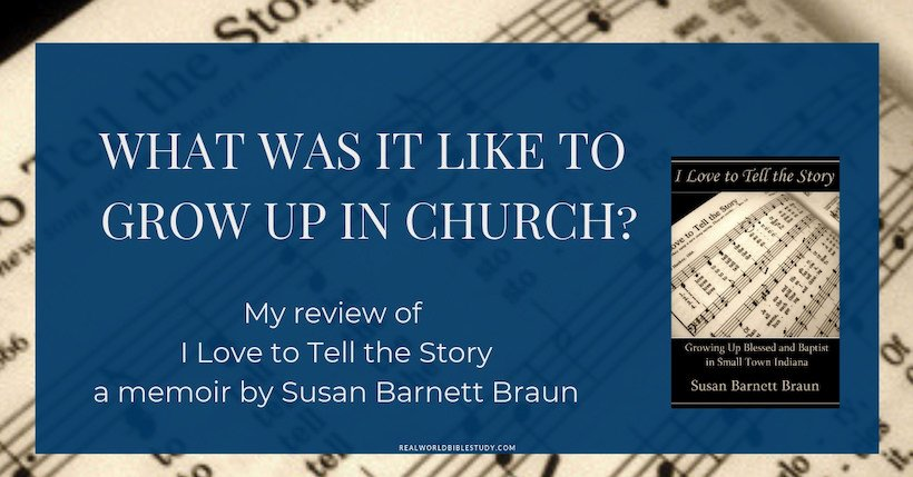 What was it like to grow up in church?  Specifically, in this case, Susan's midwest Baptist church in the 1970s?  Read my review of her memoir and enter the #giveaway!  -  https://www.realworldbiblestudy.com