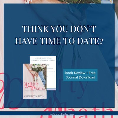 Think you don't have time to date? Adric thought so too. So his friends set up this elaborate scheme to help this great Christian guy find a bride. Read the review, enter the giveaway, and get the free journal download at realworldbiblestudy.com