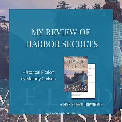 My review of Harbor Secrets, historical fiction by Melody Carlson. Gotta love a newspaper suspense! Read my #bookreview at realworldbiblestudy.com. #christianfiction #historical #christianhistorical #christiansuspense