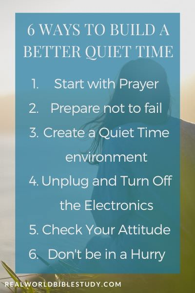 6 Ways to Build a Better Quiet Time